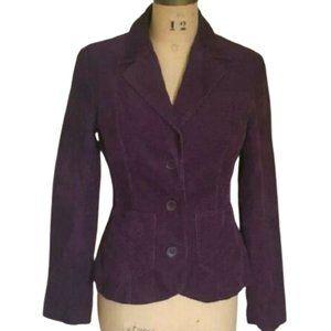 Cotton corduroy fitted purple blazer jacket 8